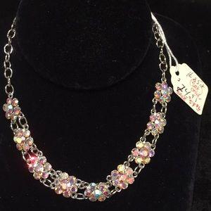 Necklace and earring set Aurora Borealis stones